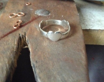 3 Herzen Silber ring