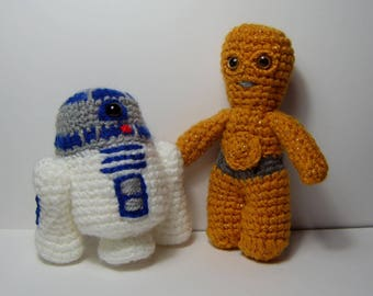 C3P0 Star Wars inspired crochet characters