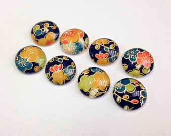 Mango Blossom - Set of 4 or 8 - magnets or push pins- most popular Japanese floral design
