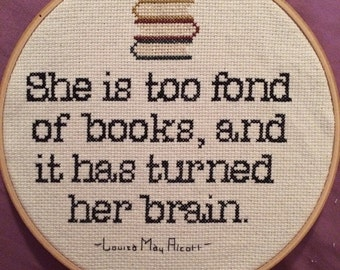 Louisa May Alcott Book Quote Crossstitch