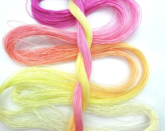 "Size 80 ""Peace"" hand dyed tatting thread 6 cord cordonnet crochet cotton"