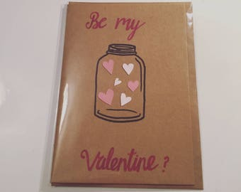 Be my Valentine Jar of Hearts