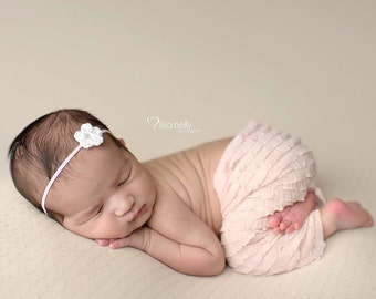 Newborn Girl Photo Outfit, Newborn Headband, Newborn Photo Prop Pant, Newborn Photo Outfit, Newborn Girl Photography Props, Take Home Outfit