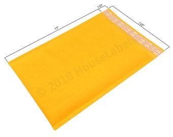 "100 Bags #1 7.25X12 KRAFT Bubble Padded Envelope Interior 7.25"" x 11"""