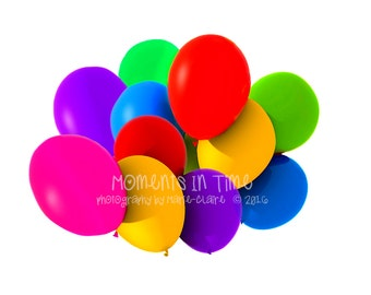 Moments In Time Digital Overlay 2 Big Bunches of Balloons