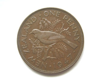 New Zealand 1(one) Penny 1947. KM#13. Good condition.