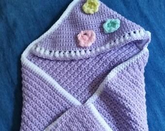 Purple Baby Wrap with hood