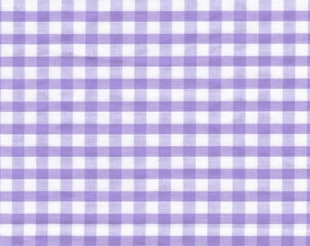 Carly LAVENDER Mini Checkered Gingham Poly Cotton Fabric by the Yard - 10114