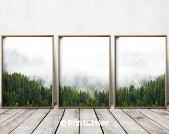 Forest Print Forest Print Forest Wall Art Forest Decor