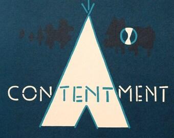 CONTENTMENT - A3 Indigo print