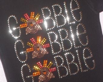 GOBBLE gobble GOBBLE rhinestud  tee by Daisy Creek Designs