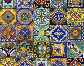 40 6x6 Mexican Ceramic Tiles