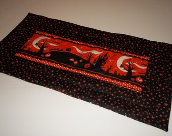 Haunted Houses Quilted Table Runner