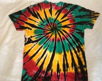 Tie Dye Rasta Shirt, Tye Dye Rasta Shirt