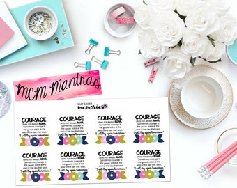 """MCM MANTRAS: """"Courage"""" Paper Planner Stickers!"""
