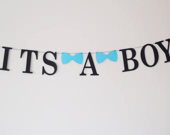 It's a boy garland banner bow tie baby shower decoration, maternity photo prop