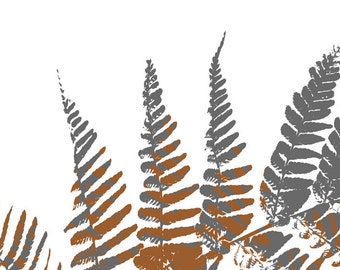 Gray Home Decor, Modern Wall Art, Fern Print, Botanical Nature