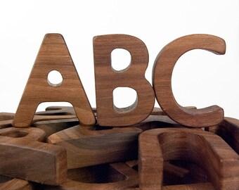 Alphabet Letters, Wooden ABC Teaching Toy // Montessori Educational Toy // custom handmade wood toy
