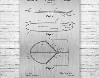 Surfboard Poster Art Print, Surfer Gift, Surfing Gift, Patent Art, Patent Print, Patent Poster, Wall Art, Home Decor, Vintage Art
