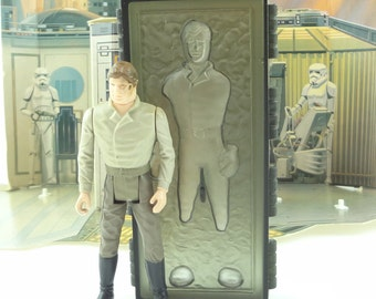Star Wars Action Figure Han Solo With Carbonite POTF Last 17