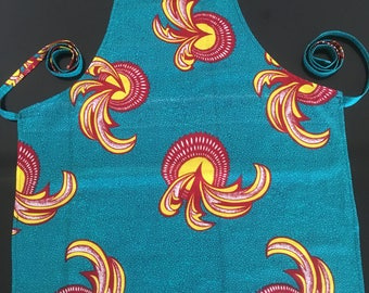 African Chitengi kitchen apron - Makanta print