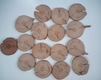 30 apple tree wood slices 1,5'' (3,8 cm), wood slices.