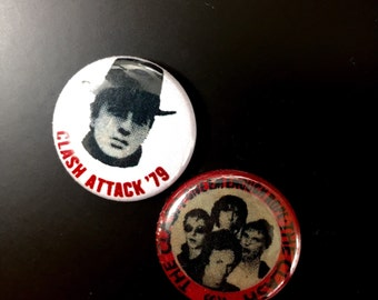 The Clash 1inch Pinback Buttons or Magnets Vintage Reproduction