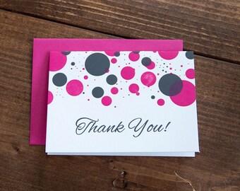 Thank You! Bachelorette Letterpress Thank You Set of 10