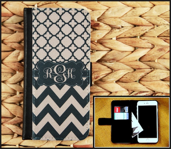 Wallet Case iPhone 8 7 Plus 5 6 6+ 6 Plus Samsung Galaxy 3 4 and 5 S3 S4 S5 S6 Case Cell Phone Accessories Monogrammed Custom Personalized