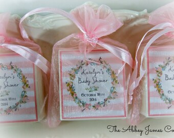 Baby Shower Favors, Bridal Shower, Soap Favors, wreath party favors set of 10