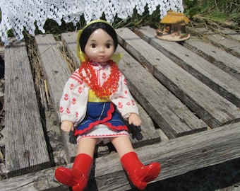 "Traditional Ukrainian 19 century costume for 9.5"" Doll, Ukrainian Doll In Vyshyvanka costume, exclusive collection of Traditional Clothing"