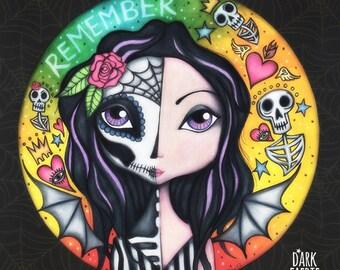 Día de Muertos - 8x8 Signed Print