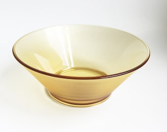 Vintage Yellow Glass Bowl