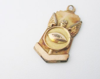 Gold Filled Football Charm, College, High School, Vintage