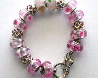 Pink-A-Dot Charm Bracelet
