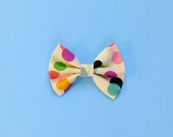 Rainbow Confetti Print Bow / Unisex / Summer - Confetti Bow