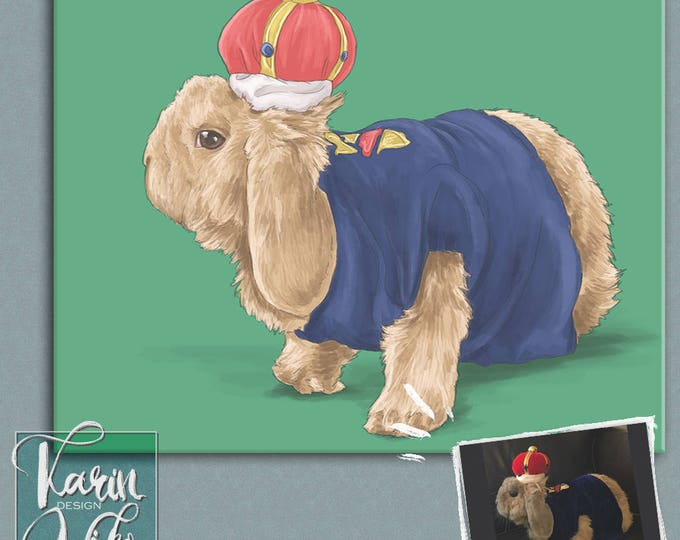 Featured listing image: Custom Pet Portrait, pet portraits, Regal Pet Portrait, Renaissance Pet Portrait, royal pet portrait, unique gifts, funny gifts, dog art