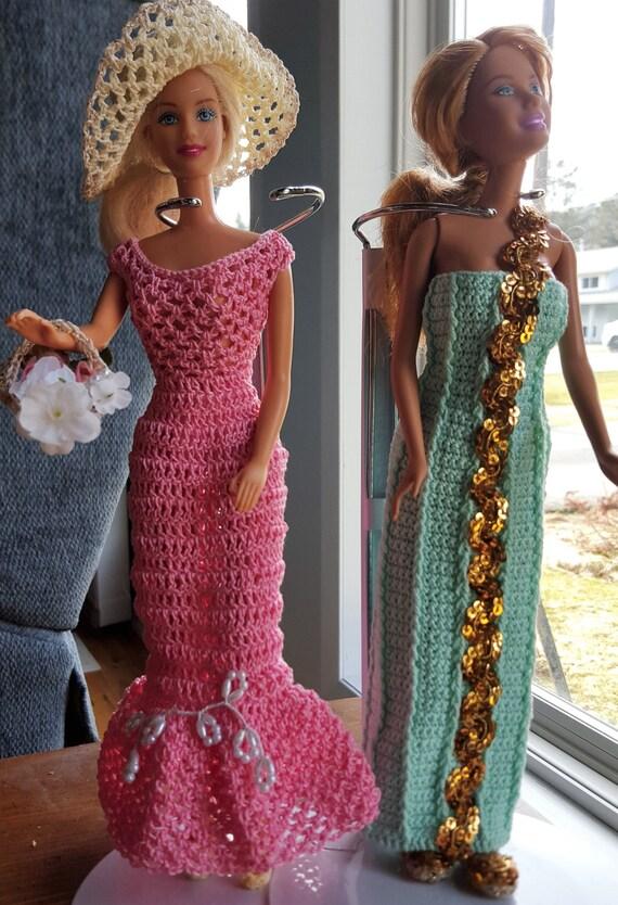 Barbie Doll Gowns Two Dress Bundles Barbie dresses Barbie