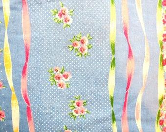"DUVET ...  Queen  or Full Reversible Duvet Cover Pink & Blue 88 w x 84 L ""100% Cotton"