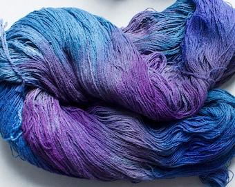 Stella, silk noil yarn, 1350 yds -  Night Sky