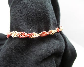 Twisted Pink Spiral Weave Chainmaille Bracelet