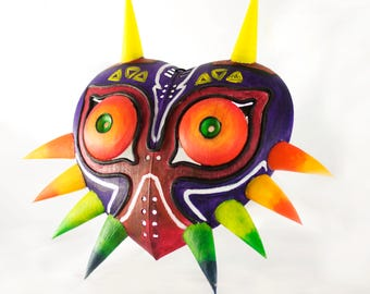 Majora's Mask Replica/Hand Painted 3D printed from the Legend of Zelda / Zelda Cosplay/ Unpainted  ( Full Size )
