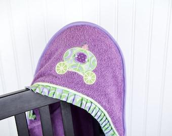 girls hooded towel princess fantasy coach many colors
