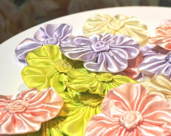 25 Satin Rosettes Assortment - Crafting, DIY, Embellishment, Rosettes