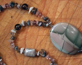 CREATION Necklace (Jasper, Opal, Quartz, Moonstone, Agate)