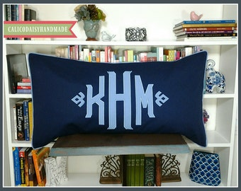 The JUMBO South Pointe Applique Monogrammed King Pillow Sham - King 20 x 36