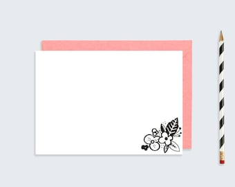 Printable Floral NoteCard | A5 A6 Postcard | Hand Illustrated Post Card