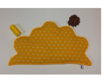Yellow cloud with flaxseed heating pad
