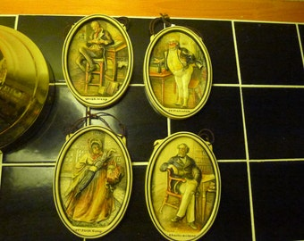 Set of four Ivorex plaques from the 1900,s