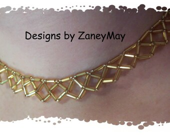 Diamond Necklace, Beading Tutorial in PDF